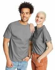 2 Hanes Beefy-T Adult Pocket T-Shirts 5190