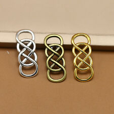 6/20x Tibetan Silver Numbers 8 Double Eight Infinity symbol Charm Connectors DIY