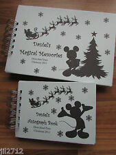 Personalised Disney Autograph Book/Photo Book Christmas - A6 & A5 Matching