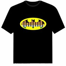Batman LED Music Tee T-shirt Equalizer Sound Light Activated Flashing Halloween