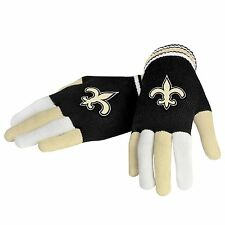 New Orleans Saints Knit Gloves Super Stretchy