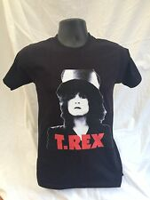 Marc Bolan T.REX SLIDER black t-shirt FRONT & BACK Print Sizes Small to XXL