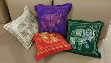 "NEW LOVELY ROYAL EMBROIDERED CUSHION COVERS 18"" X 18"""