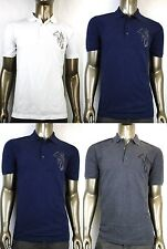 New Authentic Gucci Mens Slim Fit Embroidered Horse Polo Shirt Top 338567