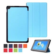 """Ultra Slim Leather Case Stand Cover for 8"""" Amazon Kindle Fire HD 8 2015 Tablet"""