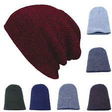 Men Women Winter Warm Knit Ski Beanie Slouchy Oversized Hip Hop Hat Unisex