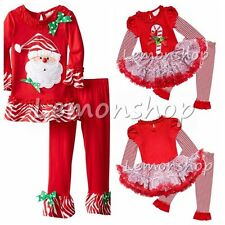 Baby Girls Santa Claus Dress Christmas Clothes Holiday Outfit SZ 12M-6X Clothing