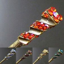 ADD'L Item FREE Shipping - Austrian Rhinestone Crystal Antiqued Metal Hair Stick