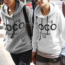 Women Hoodie COCO print Jacket Coat Sweatshirt Hooded Outerwear Tops Pullover E#
