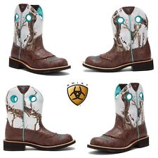 NWB Ariat Western Boots Womens Cowboy Fatbaby Cowgirl Brown Fashion Winter Boots