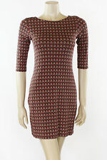 70's Retro Patterned Tunic Bodycon Dress Size 8/10/12/14/16/18/20 (ID12362)