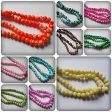50 x Mottled Effect Glass Beads - Round - 8mm [Various Colours Available]