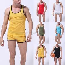 Sexy Mens Vest Slim Fit Sleeveless Vest Tank Top Breathable Gym Muscle T Shirts