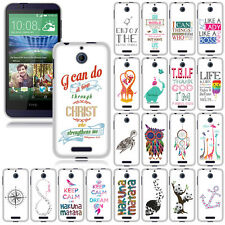 For HTC Desire 510 512 Various Design SNAP ON Hard Skin Protector Case Cover