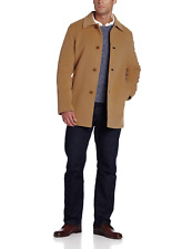 $595 NWT NEW Cole Haan Classic 3-Button Cashmere Wool Blend Topper Coat in Camel
