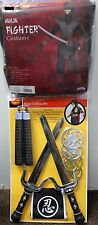 BOYS NINJA COSTUME & WEAPONS Complete Swords Fighter Child Kids Halloween NEW