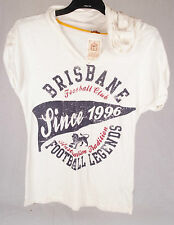 First 18 Official AFL Brisbane Lions Ladies Heritage Tee Size 10