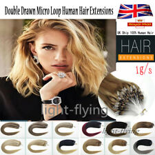 16''-22''Double Ring Beads Remy Micro Loop Human Hair Extensions 1g/s