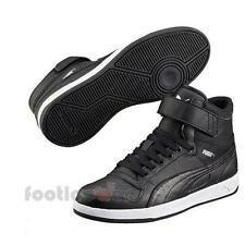 Shoes Puma Liza Mid Jr 359071 04 Black Sneakers Girls Leather Moda Fashion