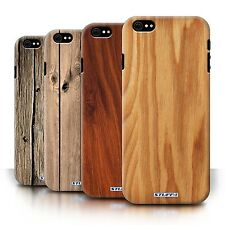 STUFF4 Back Case/Cover/Skin for Apple iPhone 6S/Wood Grain Effect/Pattern