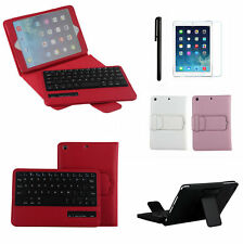 For Apple iPad mini 4 Detachable Wireless Bluetooth Keyboard Leather Case Cover