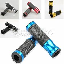CNC Motorcycle Sport Bike 7/8'' 22mm Rubber Gel Aluminum Handlebars Grips Handle