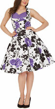 'Aura' Classic Serenity Vintage 1950's Pinup Full Circle Rockabilly Swing Dress