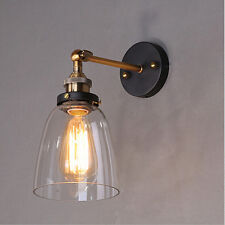 Retro Industrial Glass Wall Lamp Light Rustic Vintage Wall Sconce Lamp Fixtures