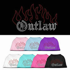 Dog Shirts - OUTLAW Rhinestone - Poly/Cotton *Many Sizes and Colors*