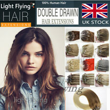 16''Top Quality Micro Loop Double Ring Beads Human Hair Extensions 1g/s