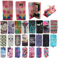 Flip Stand Hybrid Card Wallet Leather Case Cover Skins For Samsung Galaxy Phone