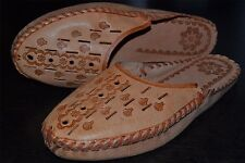 Mens Thick Genuine Sheep Leather Slippers Shoes Sandal Tan Handmade In Poland