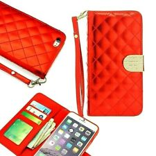 """Red Clutch Wristlet Leather Flip Case Wallet Cover For iPhone 6/6s PLUS (5.5"""")"""