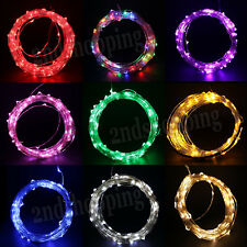 DC 12V 10M 100 LED Silver Wire Light String Decoration For Xmas Party Wedding