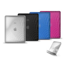 iLuv ICC802 Flexi-Clear(TPU) Case with Dot Wave Pattern for iPad, NEW