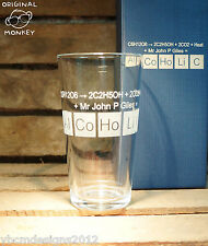 PERSONALISED ENGRAVED GLASS PINT GIFT ALCOHOLIC BEER GIFT GEEK GIFT