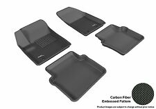 BLACK 2 Rows All Weather Floor Liners Custom Fit Molded Mats 3D MAXpider KAGU
