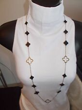 Designer Style VERY HIGH QUALITY Long Necklace, Lucky clovr,Four Leaf Clover
