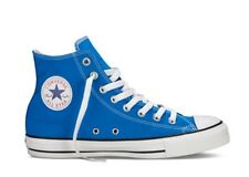 New Unisex CONVERSE CT ALL STAR HI Blue Canvas Trainers 139781F