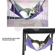 Double Sided Cat Hammock Kitten Guinea Pig Rabbit Pet Hanging Bed Cage Mat E07