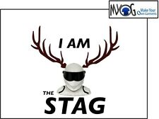 I AM THE STAG IRON ON T SHIRT TRANSFER CUSTOM QUALITY STAG NIGHT DARK