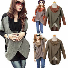 Sexy Womens Long Sleeve Batwing Jumper Cardigan Pullover Long Top Shirt Blouse