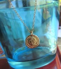 Gold Coin Necklace,gold disc pendant, dainty necklace, delicate necklace