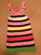 NWT Gymboree Tea for Two Little Girl's Striped Knit Sweater Jumper Sz 3 & Sz 4