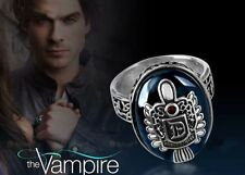 Gift Boxed 925 Sterling Silver Vampire Diaries Damon Sun Crest Protection Ring