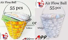 A99 Golf 55pcs Air Flow Practice Balls Plastic with iron bucket
