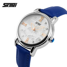 Women's Leather Dress Casual Flower Fashion Brand Waterproof Quartz Wristwatches