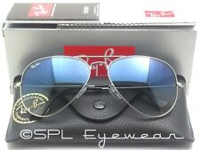 Ray Ban Aviator Gradient Blue Lens RB3025 003/3F Silver Sunglasses Large 62 mm
