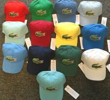 NEW 2016 MENS LACOSTE EMBROIDERED OVERSIZED LARGE CROC CAP HAT, PICK A COLOR
