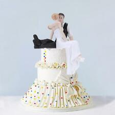Vintage Bride and Groom Wedding Cake Topper Romantic Figurine Craft Gift TS G6Y2